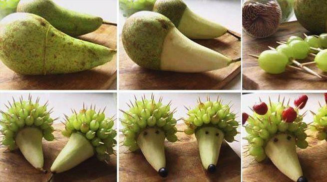 Как из фруктов и овощей сделать поделки из
