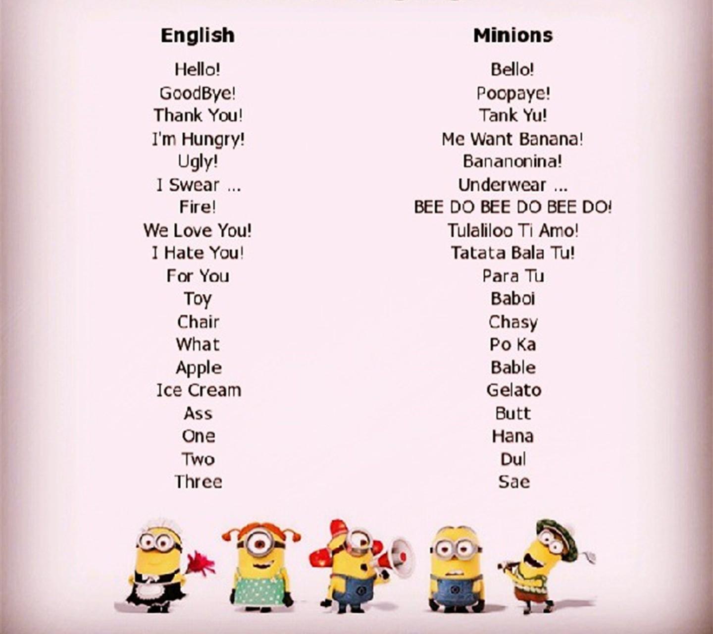 Sprache Minions