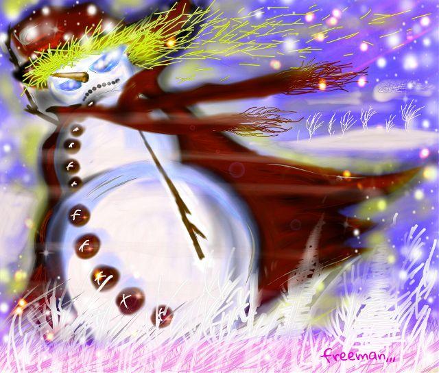 snowman drawing art contest
