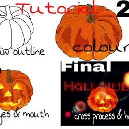 colorful hdr tutorial halloween drawstepbystep