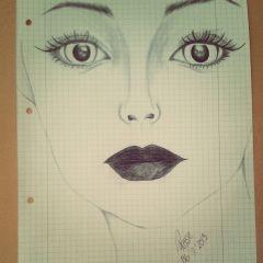sketch bored at school pencil art