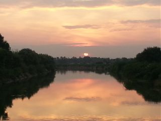 nature india river sunset beauty
