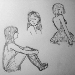pencil art drawing girl emotions sketches