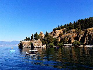 blue lake ohrid macedonia