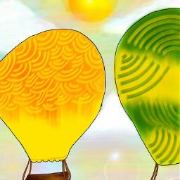 cute colorful balloon