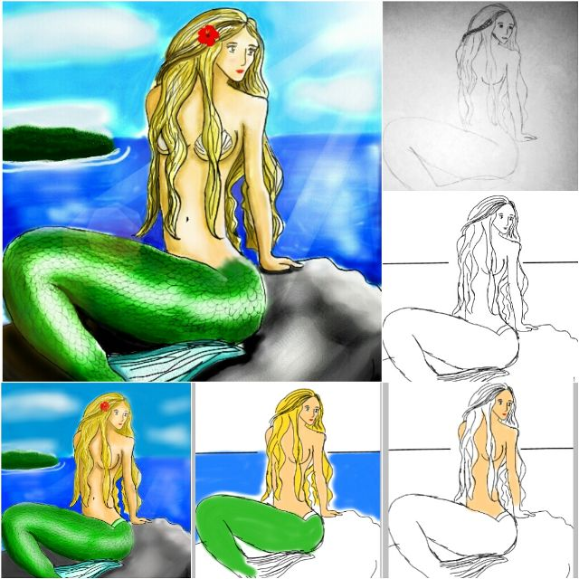 mermaid drawing tutorial