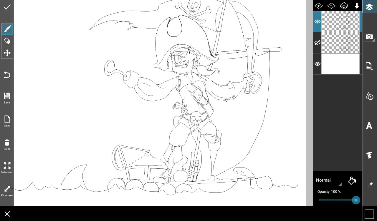 how to draw pirate