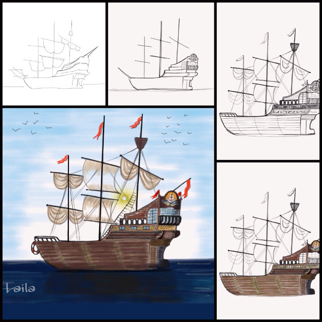 Ship drawing progression.  Vote for me in dcship. Ty.