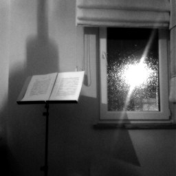 black & white music rain