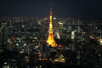 tokyo tower photography colorful beautiful