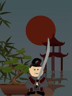 drawing samurai bonsai