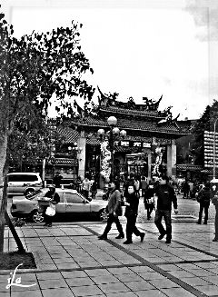 photography black & white people hdr