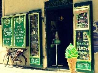 bicycle icecream absinth absinthcafe oldtown prague
