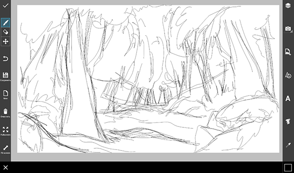 Line Drawing Jungle : Step by tutorial on how to draw a jungle using