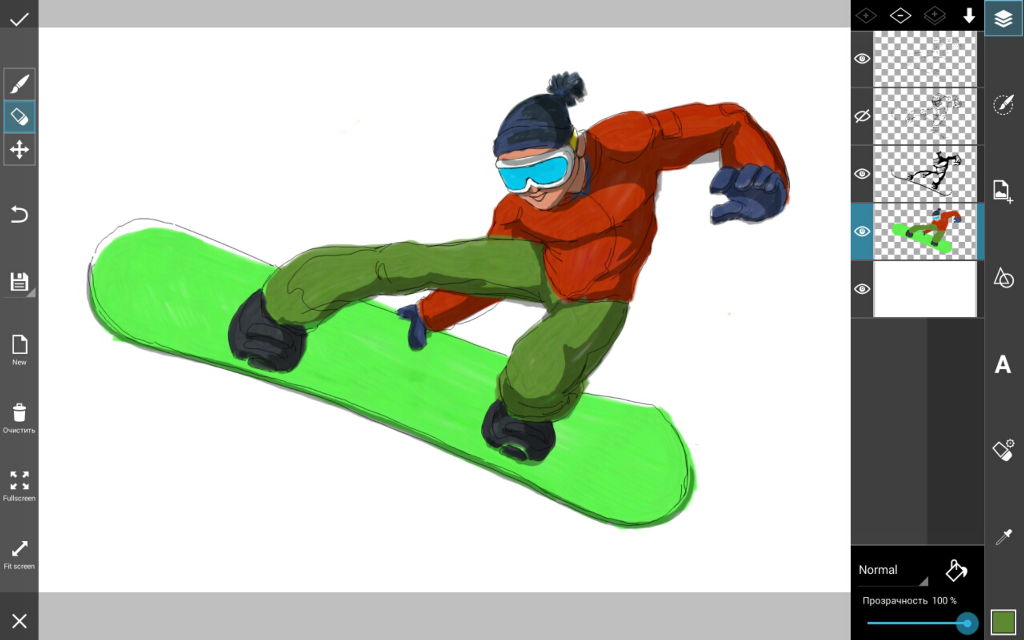 how to draw winter sports step by step