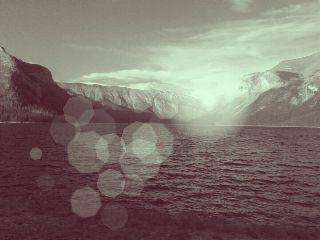 summer banff nature water mountains
