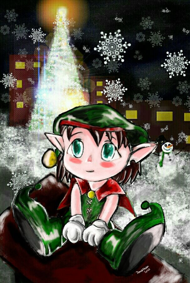 elf drawing art contest