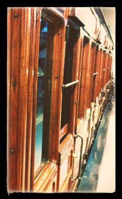 wood old train travel vintage